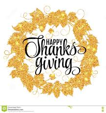 thanksgiving happyving day give thanks autumn gold glitter