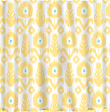 Blue And Yellow Shower Curtains Beautiful Ikat Shower Curtain For Your Interior Bathroom Decor