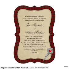 royal stewart tartan plaid and celtic pin wedding card stewart