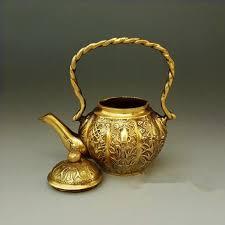 antique brass ornaments decoration craft gift teapot pot kettle