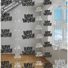silver party favors birthday glitz hanging decorations black silver from all you