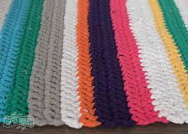 Crochet Tshirt Rug Pattern Crochet A T Shirt Yarn Rug The Diy Mommy