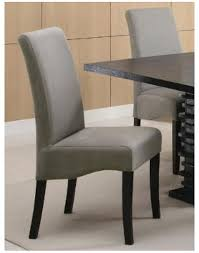 grey leather dining room chairs 543