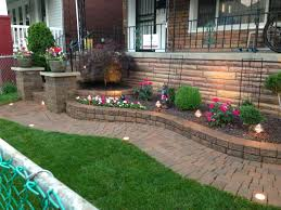 How To Build A Rock Garden Bed Landscape Rock Flower Beds Great Raised With Wall Garden