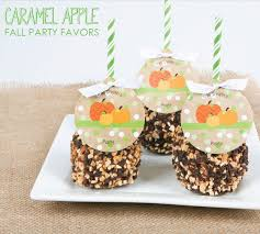 caramel apple party favors easy fall party favors treats big dot of happiness