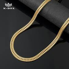 gold plated curb necklace images 6mm 24k yellow golden flat franco chain box link curb necklace 30 jpg