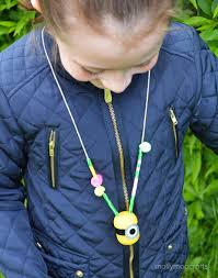 mollymoocrafts minion craft necklace