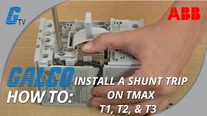 how to install a shunt trip on an abb tmax series t1 t2 u0026 t3