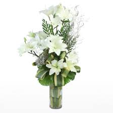 white lillies white lilies in vase