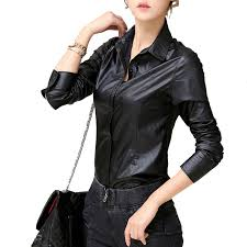 leather blouse buy black leather blouse and get free shipping on aliexpress com