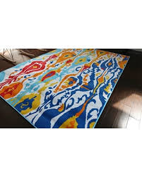 Red And Turquoise Area Rug Spooktacular Savings On Generations Contemporary Modern Area Rug