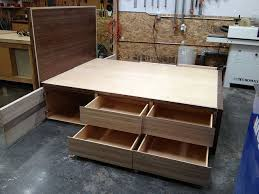 Platform Bed Frame With Drawers Ideas In Platform Bed With Storage Blogbeen