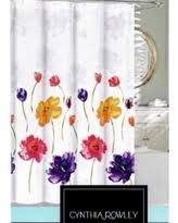Orange And Blue Shower Curtain Amazing Deal On Cynthia Rowley Shower Curtain Clover Medallion