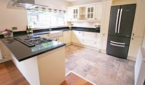 Cream Shaker Kitchen Cabinets by Cream And Black Kitchen Ideas For Cabinets Tiles And More