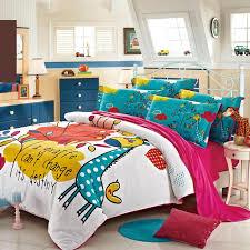 Giraffe Bed Set Teal Blue Yellow And White Giraffe Print Animal Themed