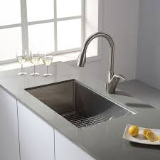 single kitchen sink faucet faucet khu100 30 in stainless steel by kraus