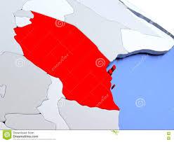 Tanzanian Flag Tanzania On World Map Stock Illustration Illustration Of United