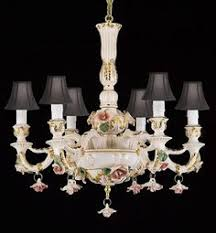 Italian Porcelain Chandelier Capodimonte Italian Porcelain Chandelier 18 Lights New Brown