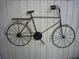 wall art decor ideas purbeck pottery bicycle metal wall art gents