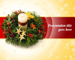 free christmas wreath powerpoint template free powerpoint