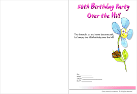 29 50th birthday invitation templates word 50th birthday