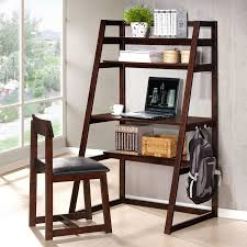 Ladder Desk With Shelves by Leaning Ladder Bookcase Walmart Roselawnlutheran