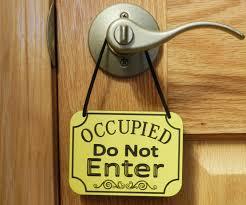 Bathroom Occupied Signs Occupied Do Not Enter Sign Door Knob Sign Door Hanging Sign