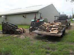 wood pile minnesota farmer