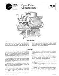 5f h open drive compressors carlyle compressors pdf catalogue