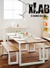 tavoli da design tavolo da cucina in legno massello di pino e gambe in ferro