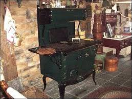 Homestead Kitchen Cooking On A Wood Cookstove