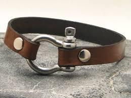 leather bracelet clasp images Men 39 s leather bracelet brown leather cuff men 39 s jpg