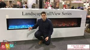 new landscape series modern flames electric fireplace review youtube