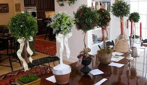 Topiary Balls With Flowers - decorating cottage garden topiary with topiaries design and tile