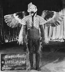 Flying Monkey Costume The Wizard Of Oz Flying Winged Monkey Costume Test Photo From 1938
