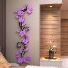 3d flower beautiful diy mirror wall decals stickers home room