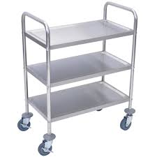 modern kitchen accessories kitchen three shelf solid metal bussing utility carts for modern