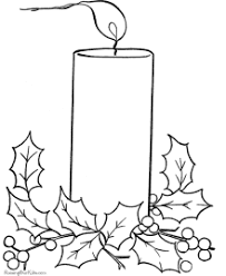 free christmas coloring page christmas coloring pages bells and candles