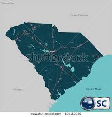 map of sc south carolina map stock images royalty free images vectors