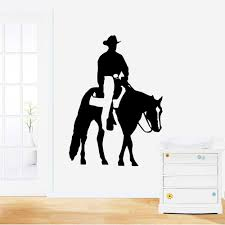 high quality cowboys wall decal buy cheap cowboys wall decal lots zuczug 39 55cm wall stickers cowboy mustang 3d removable wall decals home decor stickers