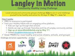 Challenge In Motion Langley In Motion Community Healthy Living Challenge City Of