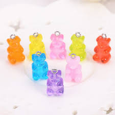 diy necklace charms images 32pcs resin gummy bear candy necklace charms very cute keychain jpg