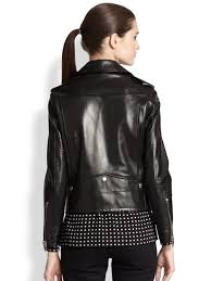 black leather motorcycle jacket saint laurent classic leather motorcycle jacket in black lyst