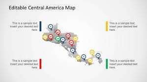 United States Map Powerpoint Template by Central America Map Template For Powerpoint Slidemodel