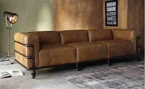 le monde du canapé canapé vintage 4 places fabric en cuir havane canapé maisons du