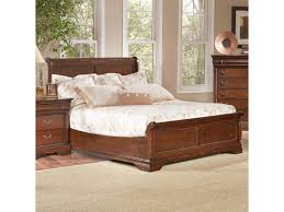 largo bordeaux traditional queen low profile sleigh bed with