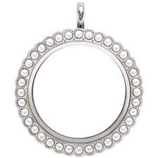 photo locket pendant necklace images Origami owl custom jewelry jpg