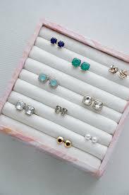 organize stud earrings diy ring earring jewelry organizer iheart organizing bloglovin