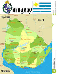 Map Of Uruguay Uruguay Map Stock Photography Image 5423502