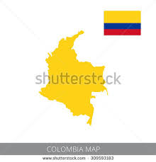 colombia map vector vector map flag colombia stock vector 309593183
